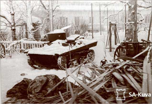 Захваченный финнами Т-37.