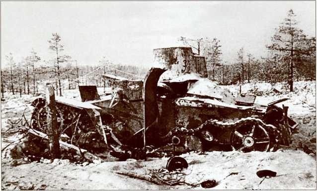 Сгоревший ХТ-26 на поле боя (АСКМ).