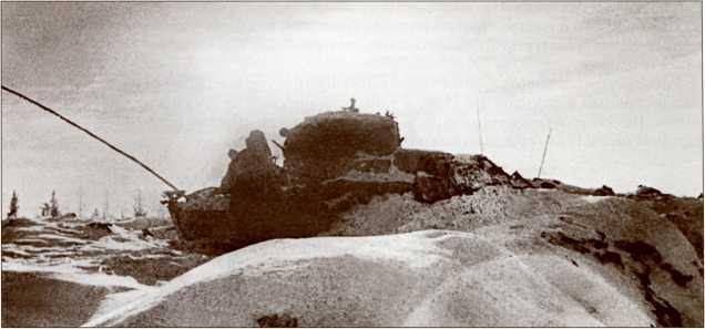 Подбитый Т-28 на высоте 65,5.