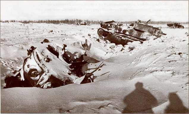 Подбитые Т-28 на высоте 65,5 (АСКМ).