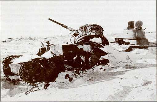 Подбитые Т-26 35-й легкотанковой бригады (АСКМ)