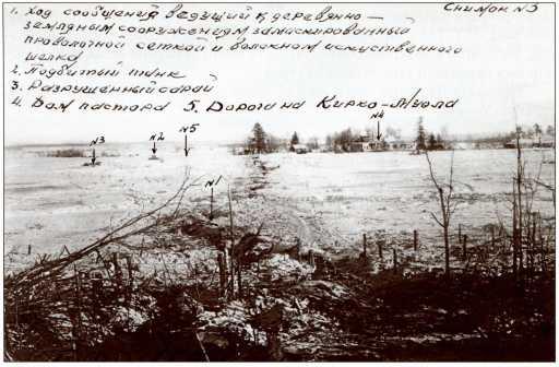 Поле боя западнее церковного холма. Фотография сделана советскими артиллеристами.