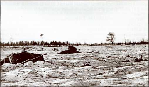 Убитые на поле боя красноармейцы.