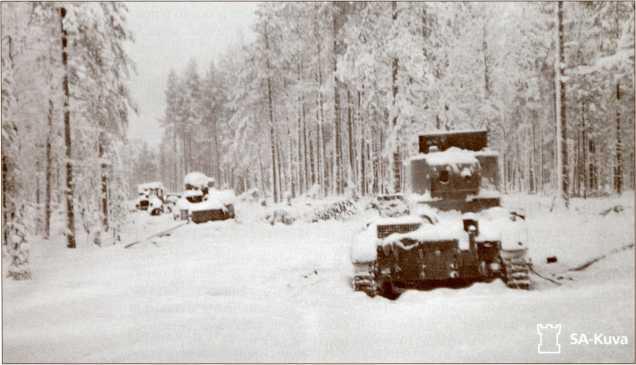 Уничтоженные ОТ-130 севернее Ладоги.
