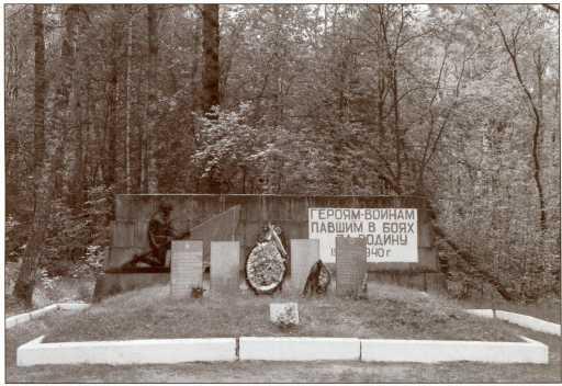 Братская могила танкистов 35-й легкотанковой бригады в наши дни.