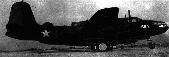Выстроенные в ряд А-20В на бирманском аэродроме. Что, в общем-то, странно, поскольку А-20 официально в Юго-Восточной Азии не применялись.