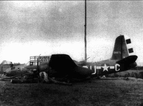 Этот A-20G из 646-й эскадрильи 410-й группы оказался более удачным. Пилоту удалось дотянуть до Англии и посадить машину на брюхо.