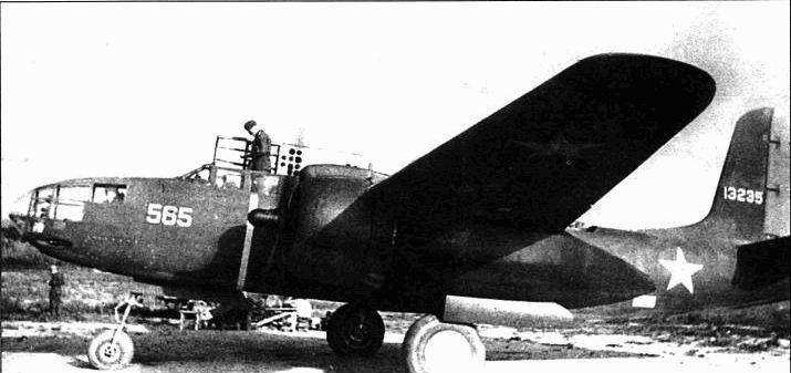 А-20БДЛ «Хавок» (41-3235) из 5-й ГМТАП Черноморского флота, 1943 год.