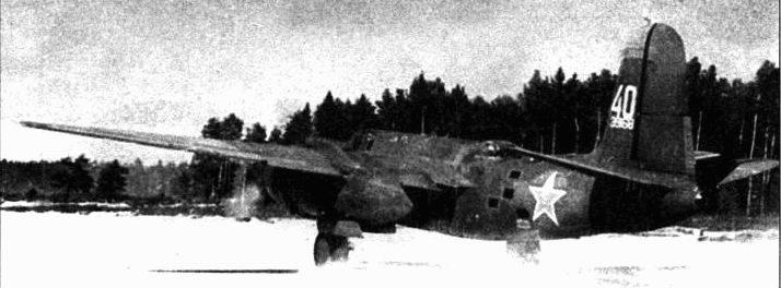 A-20G-25-DO (43-9168, «40»), 51-й МТАП, Балтийский флот, 1944 год.