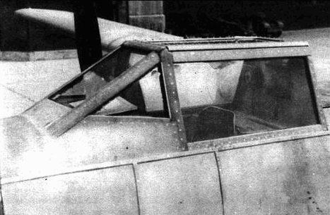 Кабина самолета была защищена особенно хорошо. О данном проекте почти ничего не известно.