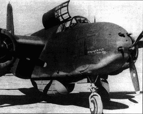 Самолет A-20G был лучшим представителем семейства А-20. Он выпускайся самой массовой серией, на его базе создавались различные варианты. В ходе выпуска конструкция самолета также менялась. Первые A-20G несли в носовом сегменте четыре 20- мм пушки. позднее их заменили 12,7-мм пулеметами. Большинство пушечных машин по ленд-лизу передачи Советскому Союзу.