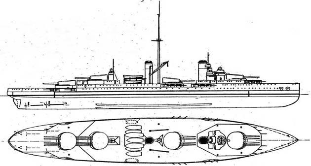 """""""Лион"""", """"Лиль"""", """"Дюкэн"""" и """"Турвиль"""" (29600 T1 23 уз., 16 340/45, 24 138,6/55) должны были стать развитием типа """"Нормандия"""". Заказы на них планировалось выдать в 1915 году, но е началом мировой войны Франции стало не до закладки линкоров"""
