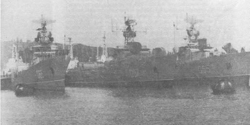 МПК Черноморского флота на консервации в Очакове, 1989 г.