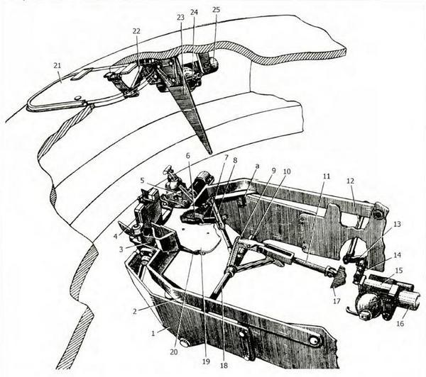 Механизм выброса стреляных гильз:
