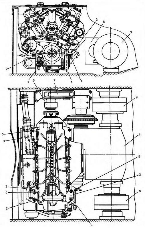 Установка двигателя в танке: