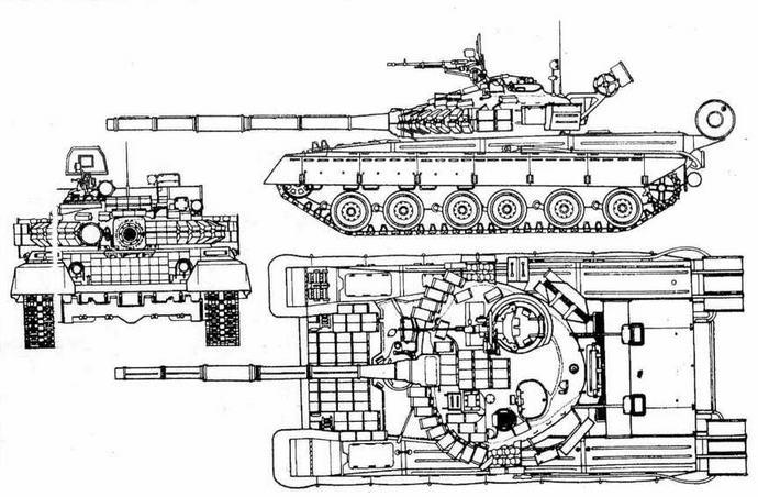 """Основной танк Т-80БВ с КУВ """"Кобра"""""""
