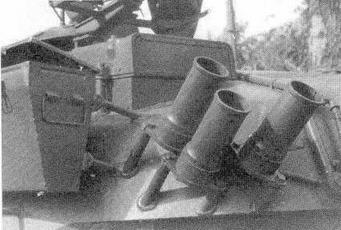 Размещение блока ГШ-12 (передачи радиокоманд на ракету на танке Т-80Б
