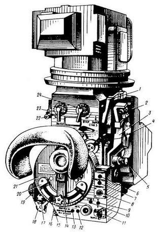 Оптико-механический блок прицела - прибора наведения 1К13: