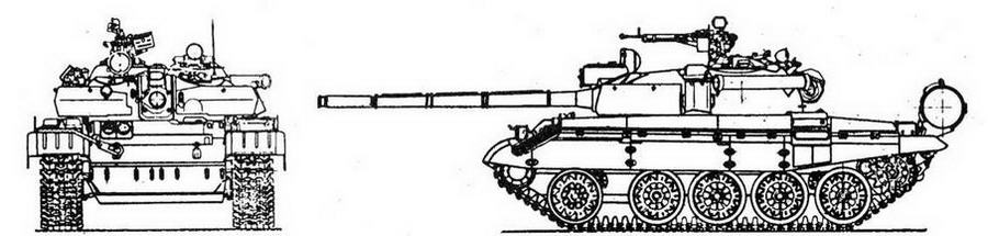 "Средним танк Т-55М с КУВ ""Бастион"""