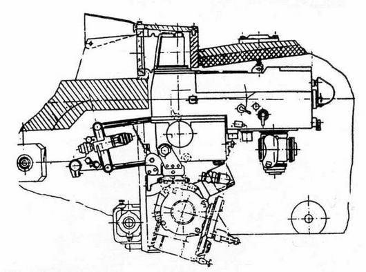 Установка прицела-дальномера прибора наведения 1Г46