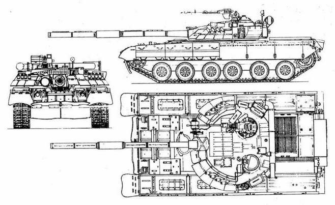 Основной танк Т-80У (Т-80УД) с двигателем 6ТД