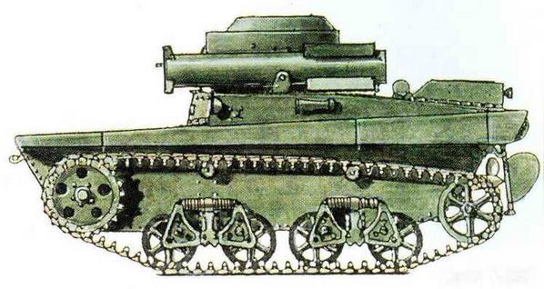 Танк Т-38 с двумя пусковыми установками реактивных снарядов (проект)