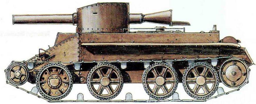 БТ-2 с 203-мм динамо-реактивной пушкой ( проект)