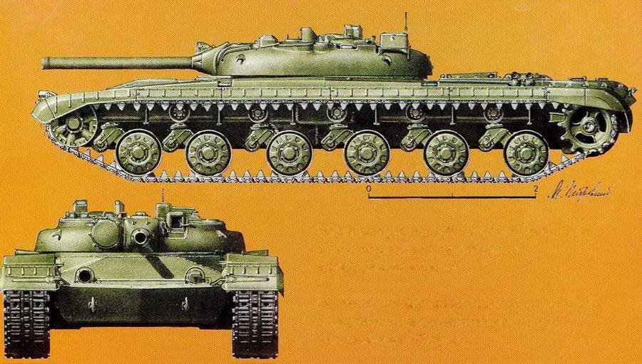 """Опытный ракетный танк """"объект 775"""" с комплексом управляемого вооружения """"Рубин"""""""