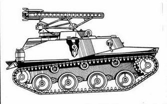 Реактивная установка БМ-8-24 на базе шасси танков Т-60