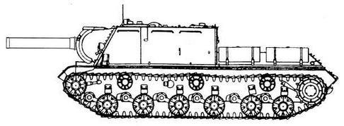 Проект ракетного танка на базе самоходной установки ИСУ-152