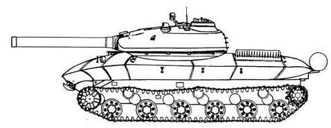 """Проект ракетного танка на базе опытного танка специального назначения """"Объект 279"""""""