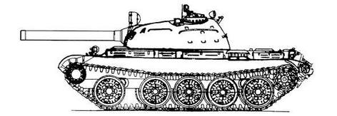 Проект ракетного танка на базе среднего танка Т-54