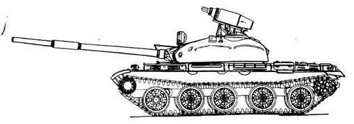 Средний танк Т-62 с блоками НУ PC типа УБ-32