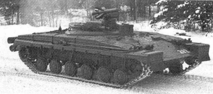 """Опытный ракетный танк объект 287"""" на испытаниях"""