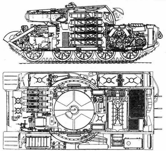 Проект ракетного танка на базе Т-55 с комплексом 'Тайфун''