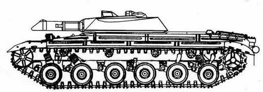 """Проект ракетного танка """"объект 772"""" с комплексом """"Лотос"""""""