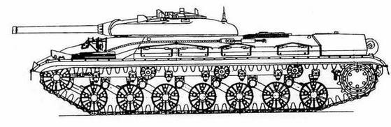 """Тяжелыйтанк Т-10, переоборудованный для испытаний ракетного комплекса """"Рубин"""""""