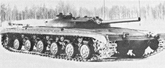 """Опытный ракетный танк """"объект 775"""" на испытаниях"""