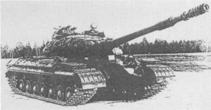 """Танк Т-10М с ракетным комплексом """"Малютка"""" на испытаниях"""