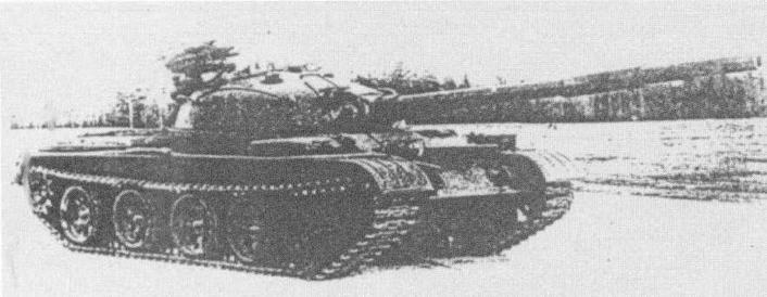 """Танк Т-62 с ракетным комплексом """"Малютка"""" на испытаниях"""