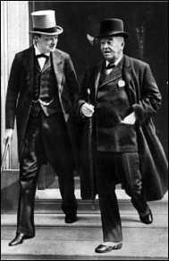 Первый Лорд Адмиралтейства Уинстон Черчилль и адмирал Дж. Фишер.
