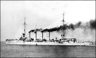 Легкий крейсер «Бреслау», вид на 1914г.