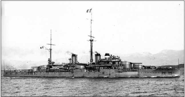 Линейный корабль «Курбе» — флагман группы В французского Средиземноморского флота.