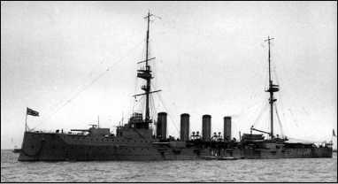 Броненосный крейсер «Дюк оф Эдинбург».