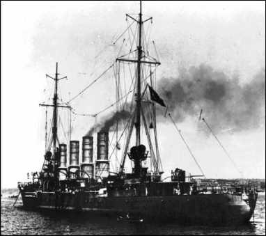 «Бреслау» вскоре после передачи турецкому флоту, август 1914г.