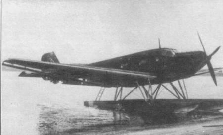 Второй Ju-52ce (Werk Mr. 4004), конец 30-х годов. В сентябре 1932г. самолет был передан в Германскую гражданскую школу летчиков. До официального признания существования люфтваффе в 1935г. в гражданской школе обучались военные пилоты. Этот Ju-52ce использовался в авиации кригсмарине в качестве буксировщика.