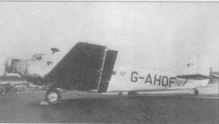 Фирма Шорт Бразерс переоборудовали летавший в люфтваффе транспортный самолет Ju-52/3m g8e в пассажирский. Работы выполнялась по заказу британской авиакомпании BE А, где он после переоборудования получил регистрационный номер G-AHOF. На киле можно различить эмблему авиакомпании BE А. Авиакомпания жсплуатировала Юнкерс на местных линиях с 29 ноября 196г. по 25 сентября 1947г. Самолет разобрали на металлолом в Уарипнгтоне в феврале 1948г.
