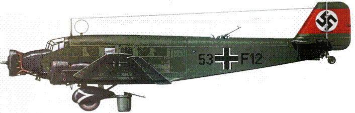 Ju-52/3m g3e (53+F12) в 1935г. состоял на вооружении KG 355.