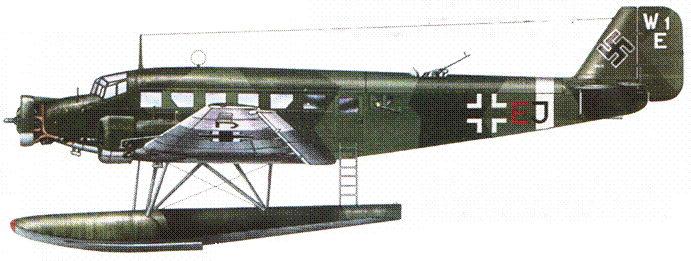 Ju-52/3m g6e (See) из Seetransportstaffel (морская транспортная эскадрилья), ноябрь 1943г. Стаффель базировался на Крите и действовал на Средиземноморье.