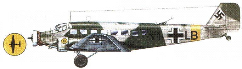 Ju-52/3m g7e (Vl+LP) 7-го воздушного корпуса. Восточный фронт, зима 1942–1943г.г.